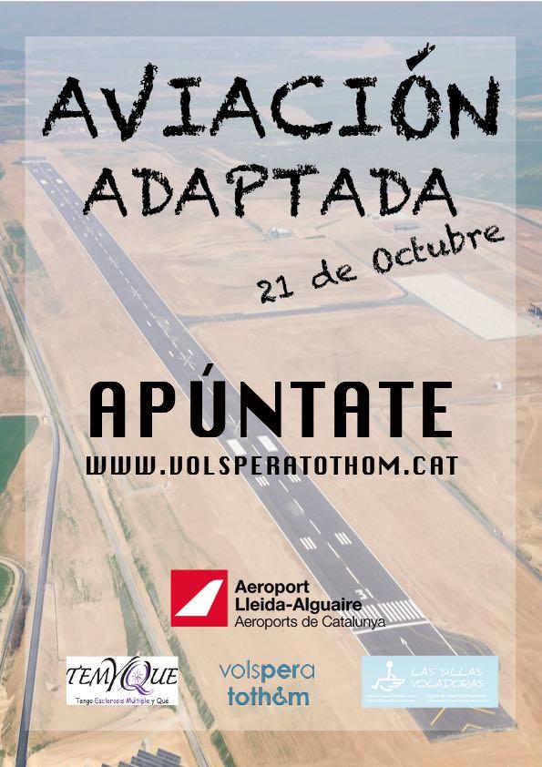 cartel anunciador del evento de aviación adaptada
